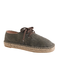 J.Crew Lace Up Espadrilles Wet Stone