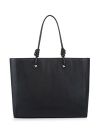 Jaeger Leather Knot Oversized Tote Black