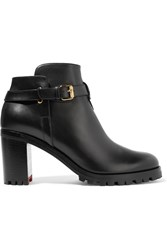 Christian Louboutin Communa 70 Leather Ankle Boots Black