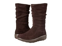 Fitflop Loaff Slouchy Knee Boot Dark Brown Women's Boots