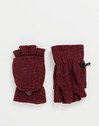 Patagonia Flip Top Mittens Red