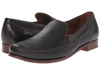 Trask Seth Black Sheepskin Men's Slip On Dress Shoes