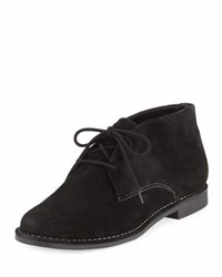 Bernardo Desmond Suede Lace Up Bootie Black