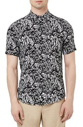 Men's Topman Hawaiian Print Short Sleeve Woven Shirt