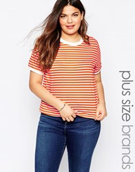 Alice And You Crew Neck Stripe Tee Multi