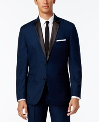 Inc International Concepts Men's Customizable Tuxedo Blazer Only At Macy's Navy Regular Peak Lapel Blazer