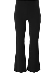 Emilio Pucci Cropped Flared Trousers Black