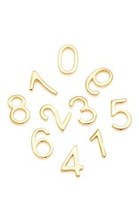 Loquet London 18K Gold Number Charm