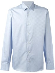 Salvatore Ferragamo Gancio Pattern Shirt Blue