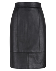 Havren Leather Skirt Black