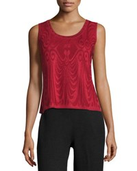 Ming Wang Embellished Scoop Neck Jacquard Knit Tank Grt