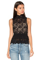 Nightcap Peplum Cut Out Top Black