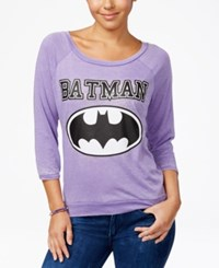 Bioworld Warner Bros Juniors' Dc Comics Batman Vintage Graphic T Shirt Purple