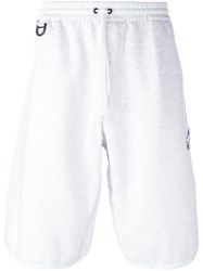 Y 3 Knee Length Drawstring Shorts White