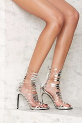 Nasty Gal Fit To Kill Strappy Heel Silver Metallic
