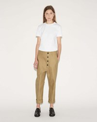 Sofie D'hoore Pole Cotton Twill Trousers Khaki