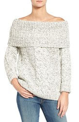 7 For All Mankindr Women's Mankind Off The Shoulder Cable Knit Sweater