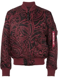 Alpha Industries Printed Flight Jacket Pink And Purple