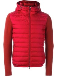 Moncler Padded Panel Jacket Red