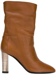 Pollini High Heel Boots Brown