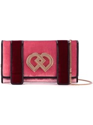 Dsquared2 Small 'Dd' Clutch Pink And Purple