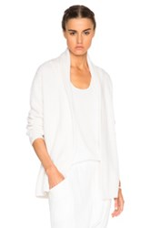 Baja East Cashmere Cardigan Sweater In White