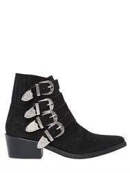 Toga Pulla 50Mm Suede Boots W Buckles