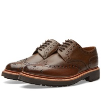 Grenson Archie C Brogue Brown Grain Leather