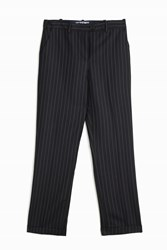 Jacquemus Pinstripe Straight Trousers Navy