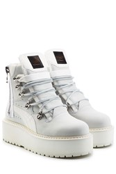 Fenty X Puma By Rihanna Leather Platform Ankle Boots White