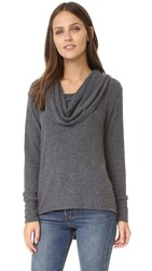 Lna Scarf Sweater Charcoal