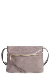 Hobo 'Annette' Leather Crossbody Bag Grey Granite