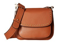 Sam Edelman Renee Iconic Saddle Cognac Cross Body Handbags Tan