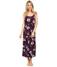 Midnight By Carole Hochman Modal Long Gown Floral Women's Pajama Multi