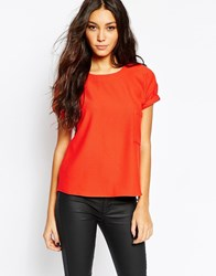 Y.A.S Franny Simple Tee Red