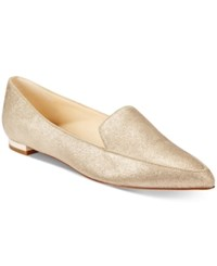 Nine West Abay Pointed Toe Flats Women's Shoes Gold Metallic