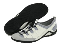 Ecco Vibration Ii Toggle Silver Shadow Metallic Shadow White Women's Lace Up Casual Shoes