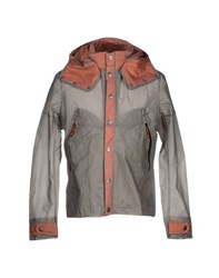 Diadora Heritage Coats And Jackets Full Length Jackets Men Grey