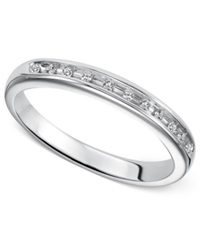 Macy's Sterling Silver Ring Diamond Accent Engagement Band