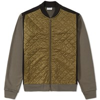 Dries Van Noten Hamish Quilted Bomber Jacket Green