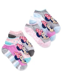 Planet Sox Disney Women's Minnie Mouse Leopard No Show 6 Pk. Socks
