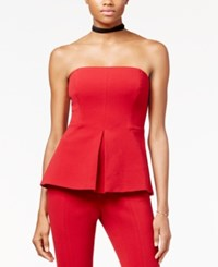 Rachel Roy Strapless Peplum Top Only At Macy's Ruby