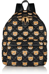Moschino Leather Trimmed Printed Quilted Shell Backpack