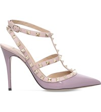 Valentino Rockstud 100 Patent Leather Courts Lilac