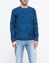 Sp Pullover Crinkled Sweater Blue Tech