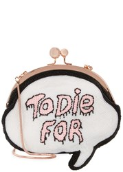 Sophia Webster To Die For Beaded Clutch White