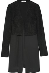 Bailey 44 Layered Boucle And Georgette Jacket Black