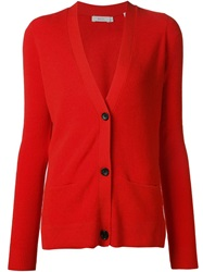 A.L.C. Buttoned Cardigan Red
