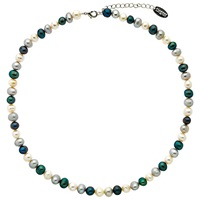Finesse Fresh Water Pearl Necklace White Blue