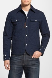 Prps Quilted Canvas Work Jacket Blue
